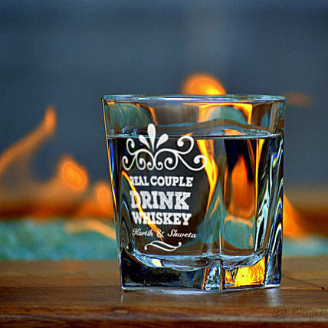 Personalised Set Of 2 Whiskey Glasses 1062: Personalised Glassware