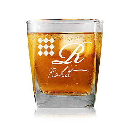 Personalised Set Of 2 Whiskey Glasses 2337: Personalised Glassware
