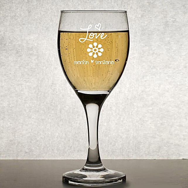 Personalised Set Of 2 Wine Glasses 1019: