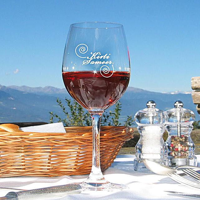 Personalised Set Of 2 Wine Glasses 1026: Personalised Wine glasses
