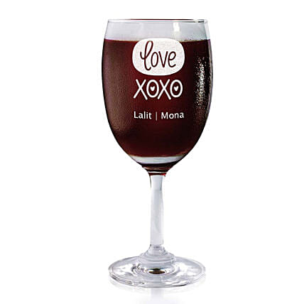 Personalised Set Of 2 Wine Glasses 2190: Personalised Wine glasses