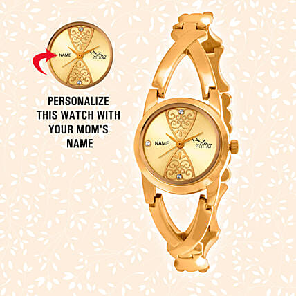 Personalised Shiny Golden Watch: Buy Watches