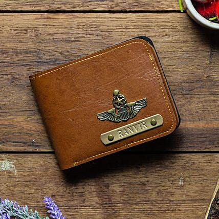 Personalised Tan Brown Mens Wallet: Accessories for Him