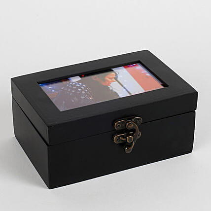 Personalised Wooden Box With Chocolates Black: