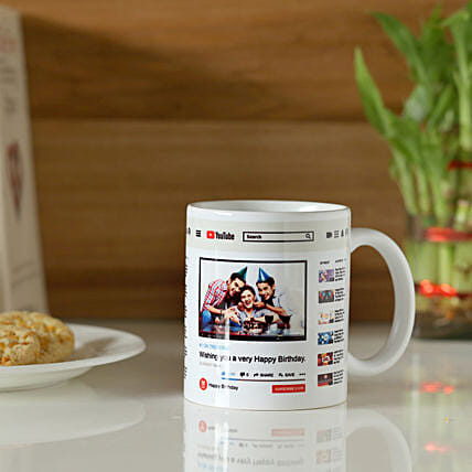 Personalised YouTube Birthday Mug: Personalised Mugs