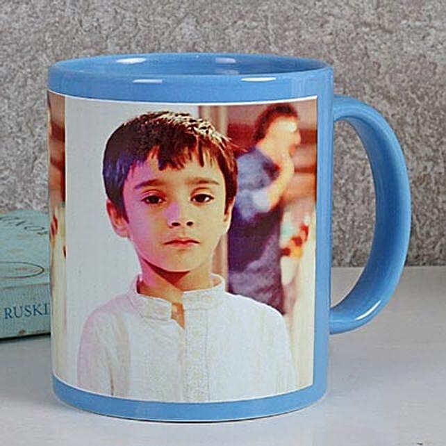 Personalized Blue Ceramic Mug: Buy Coffee Mugs