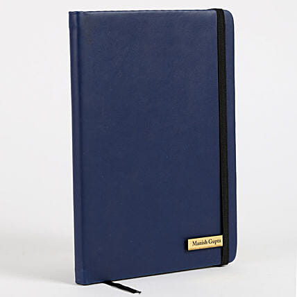 Personalized Blue Notebook: Personalised Engraved