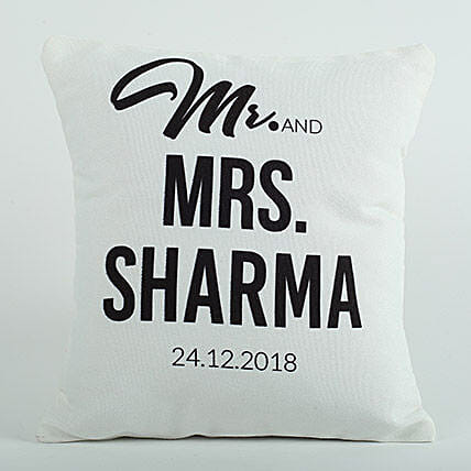 Personalized Cushion Mr N Mrs: Gifts for Parents Day