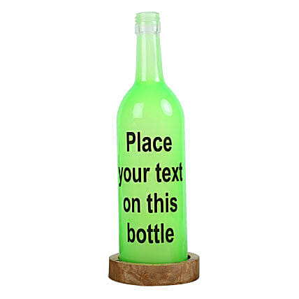 Personalized Lamp With Message: Bottle Lamps