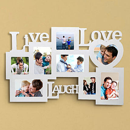 Personalized Live Love Laugh Frame: Gifts for Basant Panchami