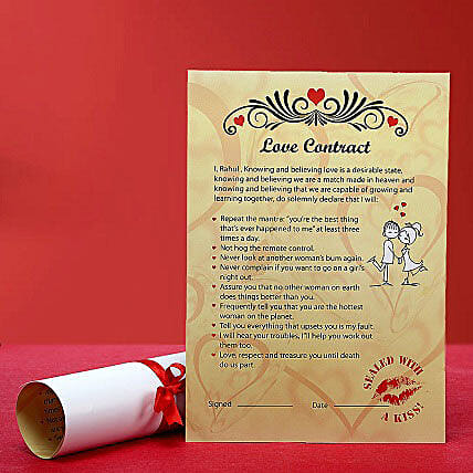 Personalized Love Contract for Her: Send Unique Gifts