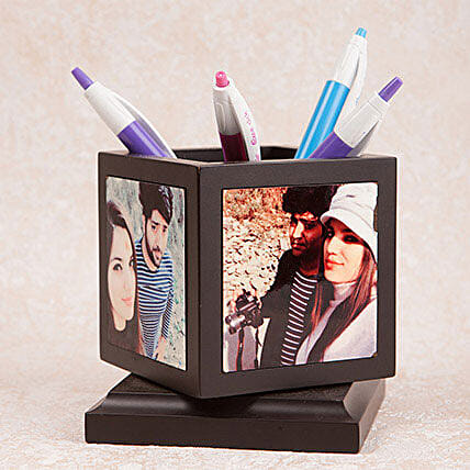 Personalized Rotating Pen Holder: Gifts to Mandya