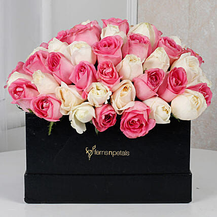 Pink N White Floral Delight: Premium Flowers