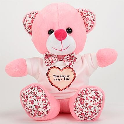 Pink Personalized Teddy Bear: Kids Toys & Games