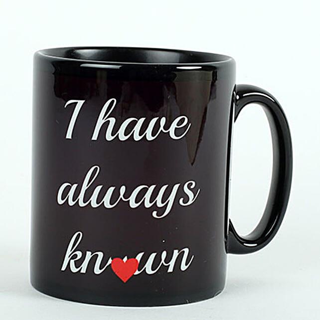 Printed Ceramic Black Mug: Gifts to Srikakulam