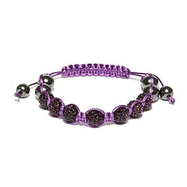 Purple Beaded Macrame Bracelet: Friendship day Bracelets