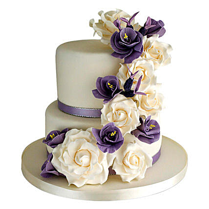 Purple Cascade: Send Designer Cakes