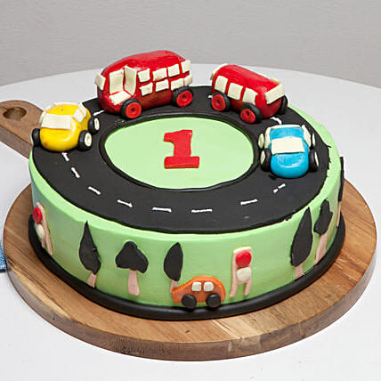 Race Track First Birthday Cake: Send Designer Cakes