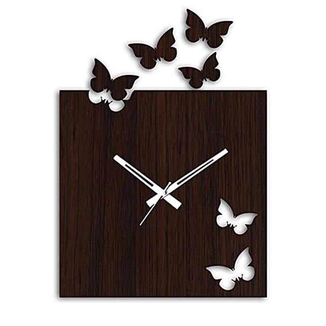 Rectangular Butterfly Wall Clock: Wall-Clocks