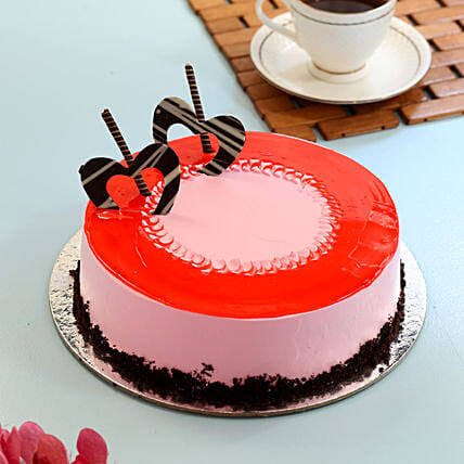 Red Glaze Strawberry Cake: 25Th Anniversary Cakes