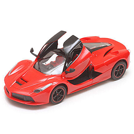 Red Rechargeable Toy Ferrari: Toys and Games