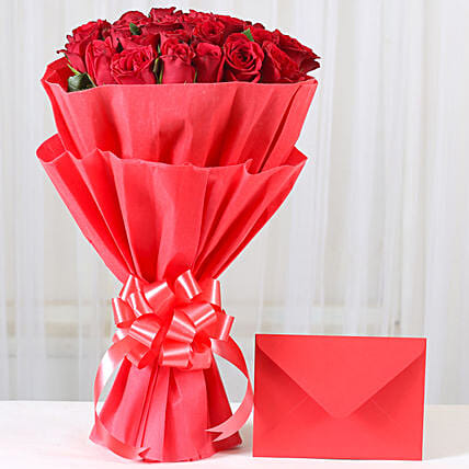 Red Roses N Greeting card: Send Flowers & Cards for Karwa Chauth