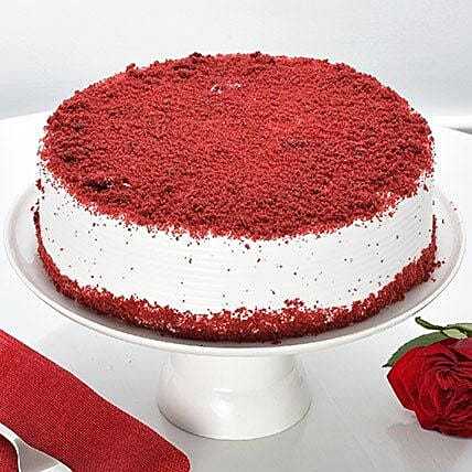 Red Velvet Fresh Cream Cake: Gifts Delivery In Ahirtoli