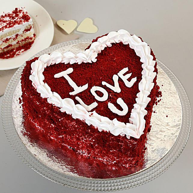 Red Velvet Love Cake: Send Red Velvet Cakes to Ahmedabad