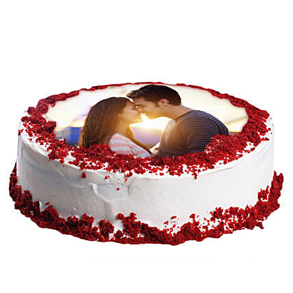 Red Velvet Photo Cake: Photo Cakes to Dehradun
