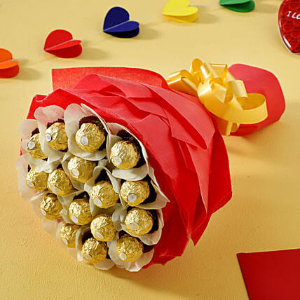 Rocher Choco Bouquet: Gifts for Hug Day