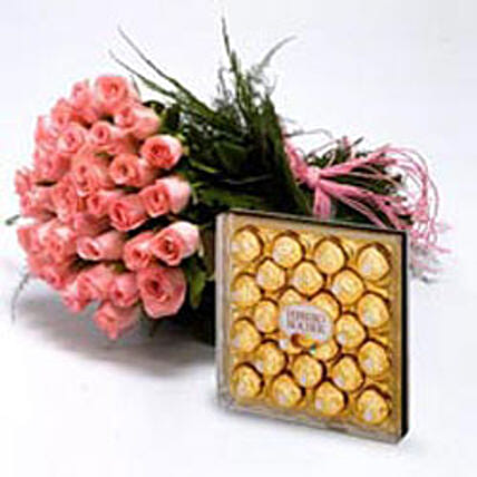 Roses With Chocolates: Roses
