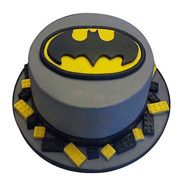Round Batman Cake: Batman Theme Cakes