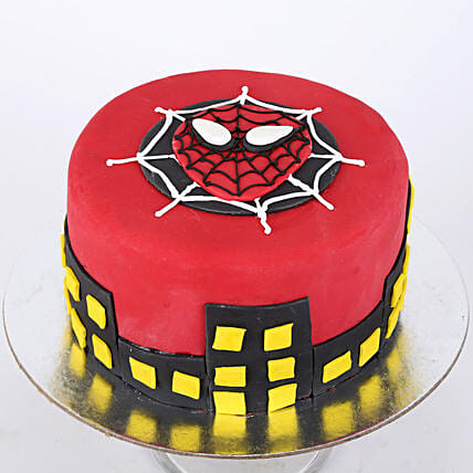 Round Fondant Spiderman Cake: Cartoon Cakes