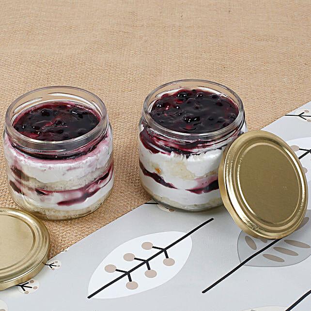 Set of 2 Mysterious Blueberry Jar Cake: