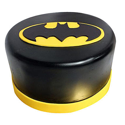 Shining Batman Cream Cake: Designer Cakes for Birthday