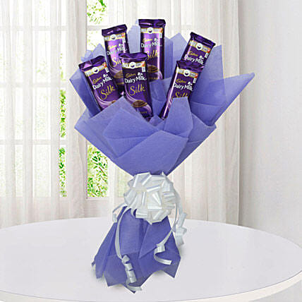 Silk Chocolate Bouquet: Cadbury Chocolates