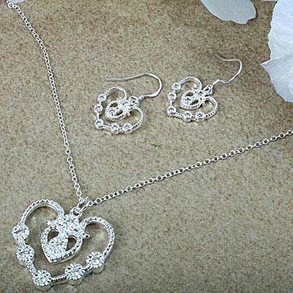 Silver Plated Jewellery Set: Accessories