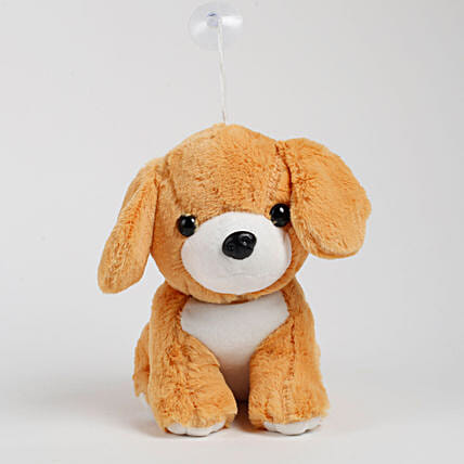 Sitting Dog Soft Toy Brown: Gifts for Childrens Day