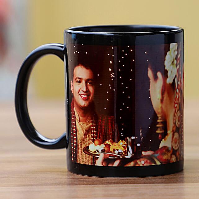 So Romantic Personalised Black Mug: Karwa Chauth All Gifts