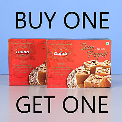 Soan Papdi Sweets- Buy 1 Get 1: Send Gifts for Onam