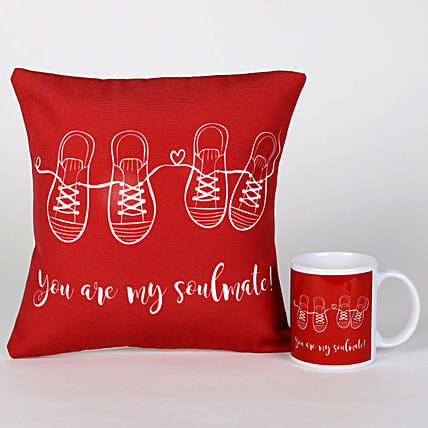 Soulmate Mug & Cushion Combo: