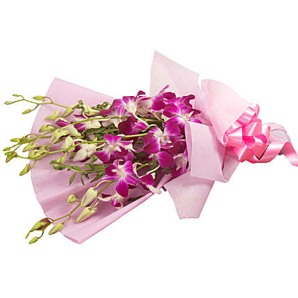 Splendid Purple Orchids Bouquet: Send Orchids