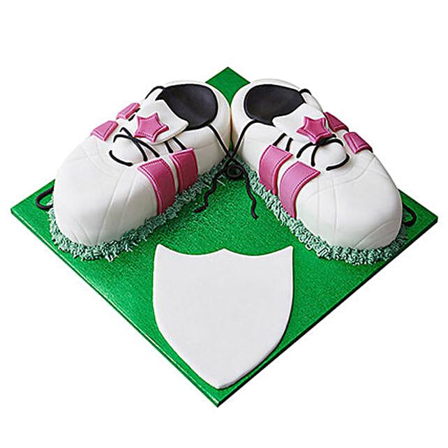 Sports Shoe Fondant Cake: Designer Cakes