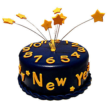 Starry New Year Cake Gifts For Girlfriend