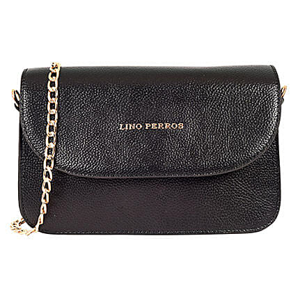 Stylish Lino Perros Black Sling Bag: Accessories
