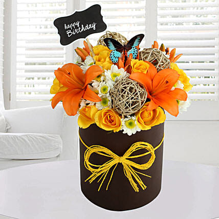 Sunny Floral Arrangement Birthday Gifts For Friend