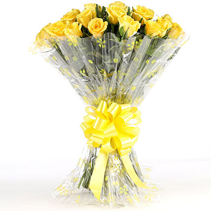 Sunny Side-24 Yellow Roses Bouquet: Gifts for Valentine's Week