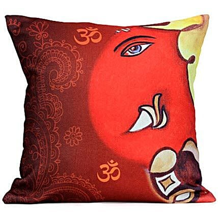 The Divine Lord Ganesha Cushion: Ganesh Chaturthi Gifts