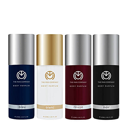 The Man Company Set of 4 Body Perfume: Cosmetics & Spa Hampers