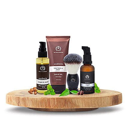 The Man Company Tea Tree And Mint Shaving Kit: Diwali Gift Hampers